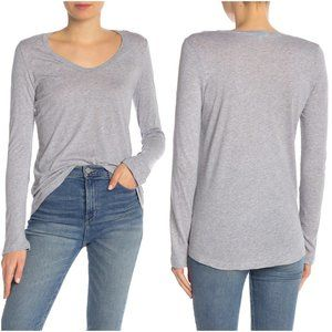 Splendid | Scoop Neck Hi-Lo Long Sleeve Shirt